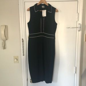 ASOS Collared Pencil Dress w/ Piping Detail NWT